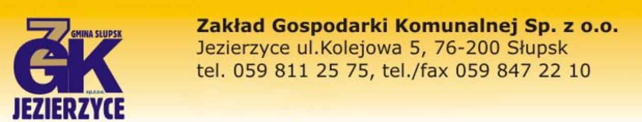 Zakład Gospodarki Komunalnej w Jezierzycach Spółka z o.o.
